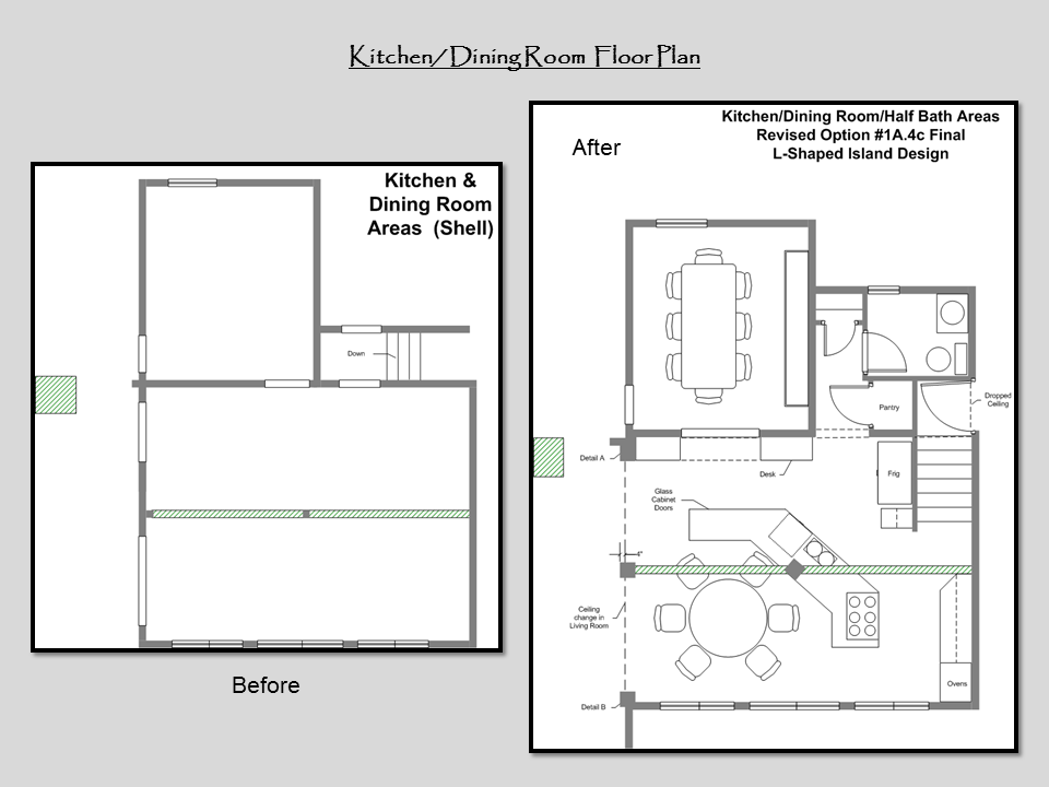 Kitchen Dining Room Floor Plan